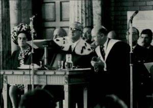 Prize giving around 1970