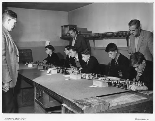 RHS Chess Team playing Newcastle Grammar School