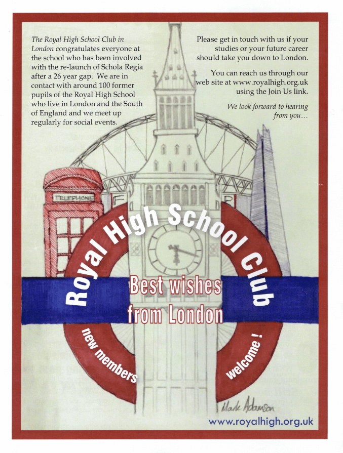 Best wishes from the Royal High School Club in London