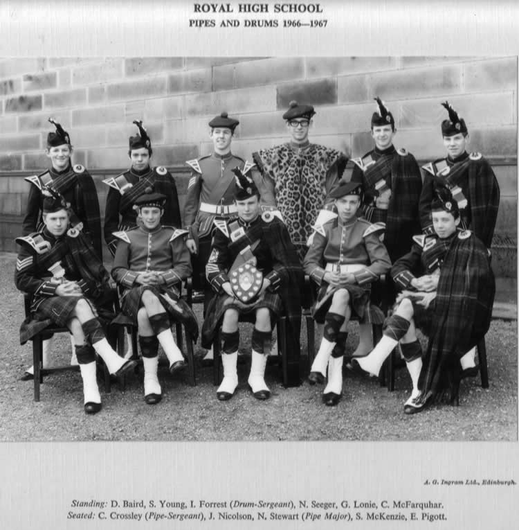 Royal High School of Edinburgh  Pipes & Drums 1966-1967