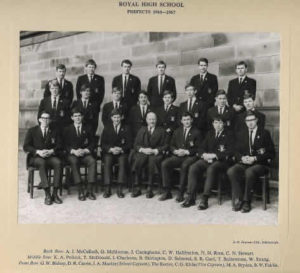 Royal High School of Edinburgh Prefects 1966- 67