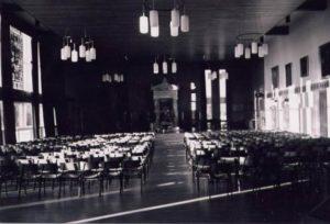 The school hall with memorial doors