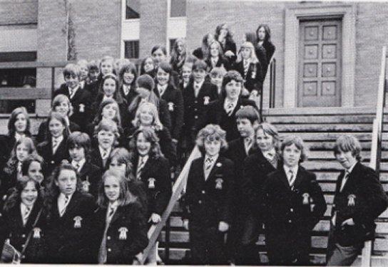 Gir;s join the formerly all boys school